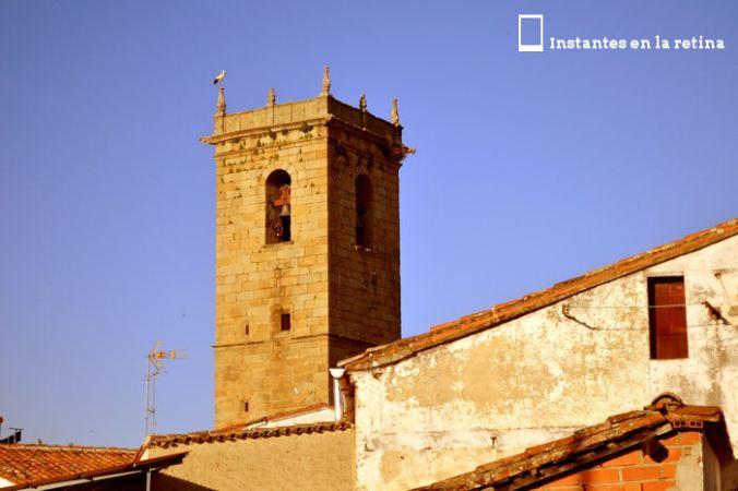 La torre de la iglesia vista desde mi balcón