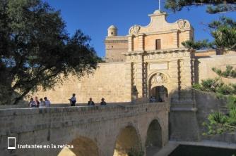 Puerta de entrada a la ciudad de Mdina.