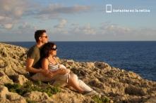 Nos sentamos a disfrutar del paisaje.