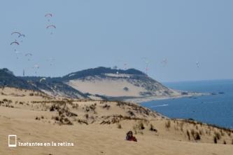 Parapentes en la Dune du Pilat